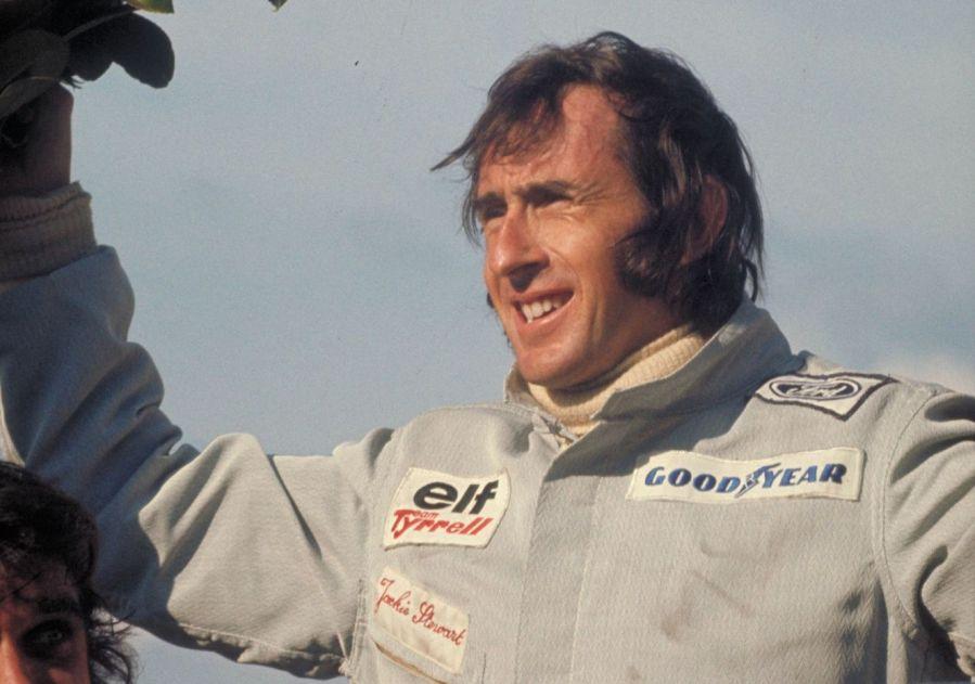 Belgium Grand Prix, Zolder, Belgium, 1973. Jackie Stewart on the victory rostrum. CD#0776-3301-4373-22.