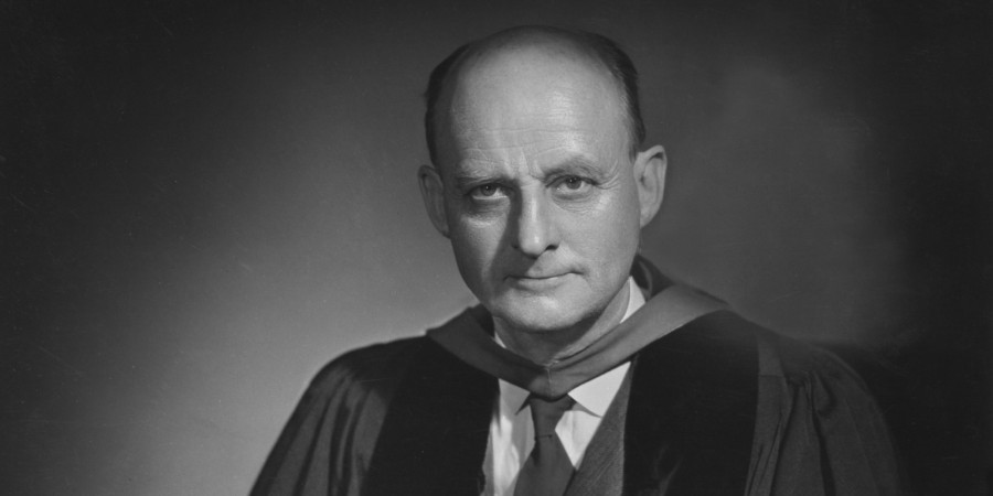 A portrait of the American Protestant theologian Reinhold Niebuhr (1892 - 1971), United States, mid-20th century. (Photo by Bachrach/Getty Images)