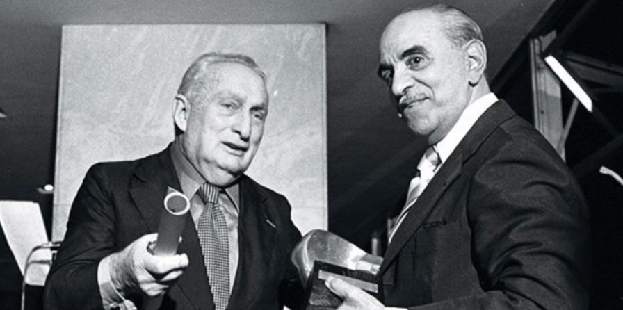 8 de Outubro - Adolpho Bloch - 1908 – 109 Anos em 2017 - Acontecimentos do Dia - Foto 3 - Adolpho Bloch e Roberto Marinho, da Globo, na inauguração da Manchete.