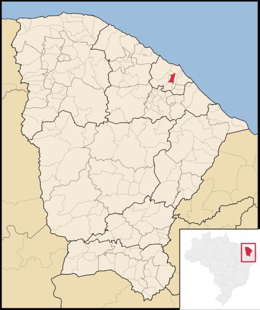 8 de Outubro - Mapa de localização — Pacatuba (CE) — 148 Anos em 2017.