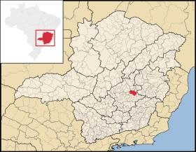 9 de Outubro - Mapa de localização — Itabira (MG) — 169 Anos em 2017.
