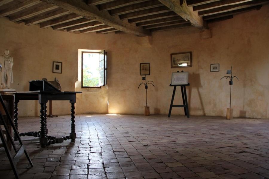 Quarto e escritório de Michel de Montaigne.