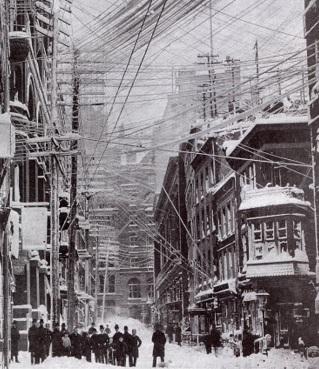 11 de Março - as ruas de Nova Iorque durante a Grande Nevasca de 1888.