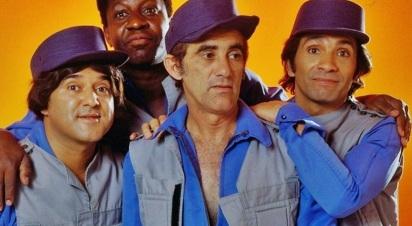 13 de março - Os Trapalhões em foto de disco de 1988 - (esq. para direita) Zacarias, Mussum, Didi e Dedé.