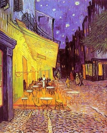 17 de Março - Terraço do Café em Arles à Noite, 1888 - Vincent van Gogh.