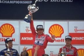 24 de Março - 1991 — Ayrton Senna vence pela primeira vez o Grande Prêmio do Brasil de Fórmula 1