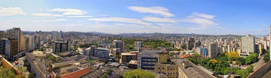 26 de Março - Porto Alegre (RS) - Panorâmica do Centro Histórico, Cidade Baixa, Santana e Bom Fim.