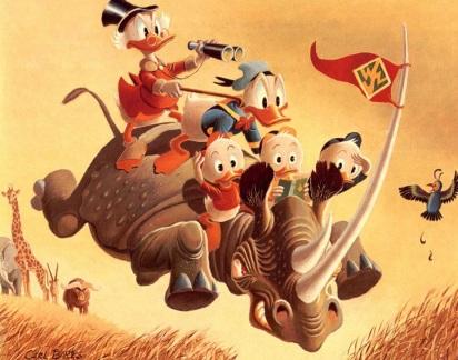 27 de Março - Carl Barks, ilustrador estado-unidense - Família de Patos - Tio Patinhas, Pato Donald