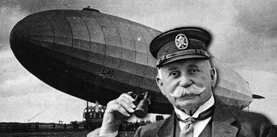 8 de março - Ferdinand von Zeppelin, construtor aeronáutico alemão