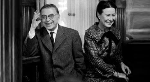 15 de Abril - Jean-Paul Sartre e Simone de Beauvoir.