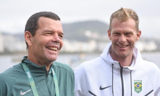 15 de Abril - Torben Grael e Robert Scheidt.
