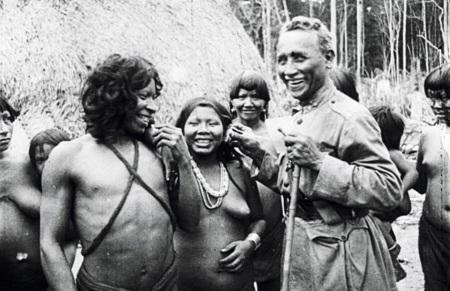 19 de Abril - Dia do Índio (Marechal Cândido Rondon e a índia poliglota.).