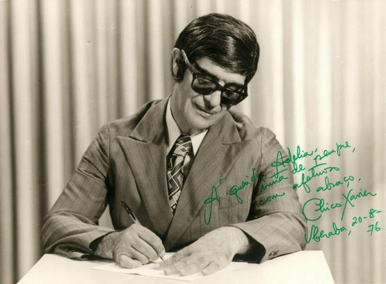 2 de Abril - 1910 — Chico Xavier - médium, filantropo e um dos mais importantes nomes do Espiritismo - foto autografada.