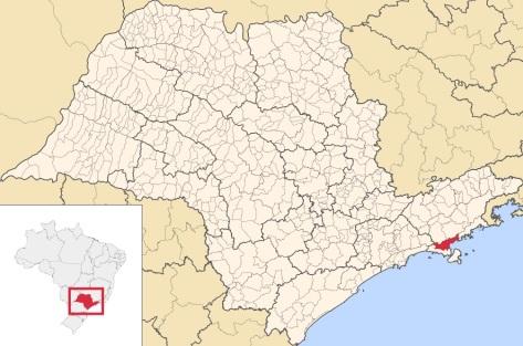20 de Abril - Caraguatatuba - SP, mapa.
