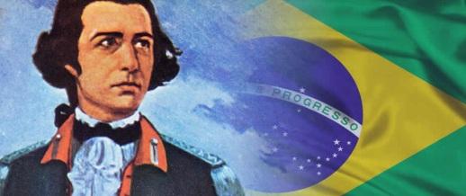 21 de Abril - 1792 — Tiradentes - Joaquim José da Silva Xavier, mártir brasileiro - bandeira brasileira.