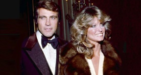 23 de Abril - Lee Majors e Farrah Fawcett.