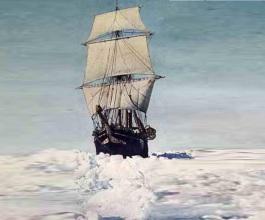 24 de Abril - 1916 — Ernest Shackleton e cinco homens da Expedição Transantártica Imperial lançam