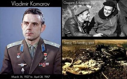 24 de Abril - 1967 — Vladimir Komarov, cosmonauta soviético (n. 1927).