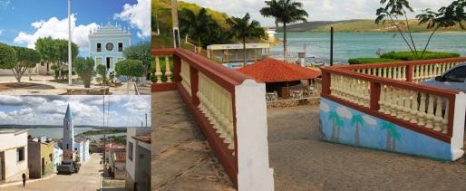 24 de Abril - 2017 — Belo Monte (AL) - 59 anos - Igreja, rio, varanda, quiosques, coqueiros, montagem fotográfica.