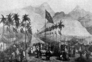 30 de Abril - 1854 — É inaugurada a primeira ferrovia do Brasil em seu trecho inicial, ligando o porto de Mauá (atual Guia de Pacobaíba) a Fragoso (atual Magé), no Rio de Janeiro.