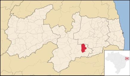 30 de Abril - Boqueirão (PB) - Mapa.
