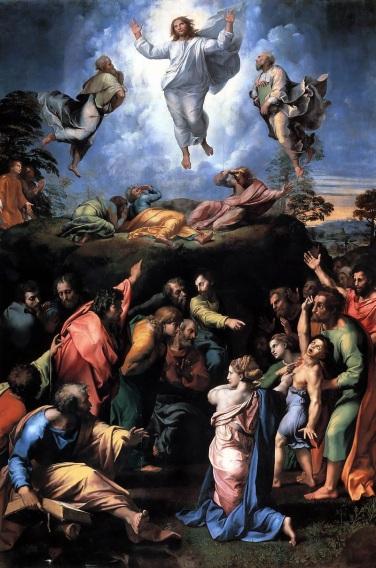 6 de Abril - 1483 — Rafael, pintor e arquiteto italiano. - Transfiguração, 1518-1520, Museus Vaticanos