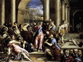 7 de Abril - 1614 — El Greco, pintor grego (n. 1541) - Purificação do Templo.