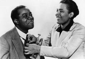 7 de Abril - 1915 — Billie Holiday, cantora norte-americana com Louis Armstrong.