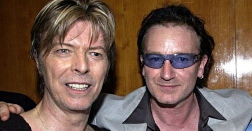 10 de Maio - 1960 - Bono, com David Bowie.
