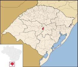 12 de Maio - Localização de Paraíso do Sul no Rio Grande do Sul