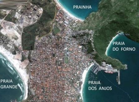 13 de Maio - Arraial do Cabo (RJ) - Mapa das praias.