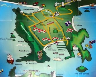 13 de Maio - Arraial do Cabo (RJ) - Mapa ilustrado das praias.