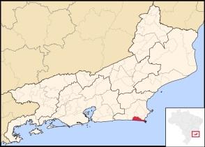 13 de Maio - Localização de Arraial do Cabo no Rio de Janeiro.