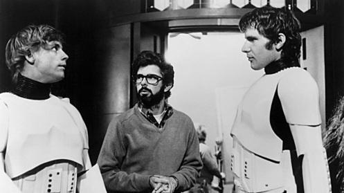 14 de Maio - 1944 – George Lucas, cineasta estadunidense, gravação, Star Wars, com Mark Hamill e Harrison Ford.