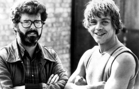 14 de Maio - 1944 – George Lucas, cineasta estadunidense, gravação, Star Wars, com Mark Hamill.