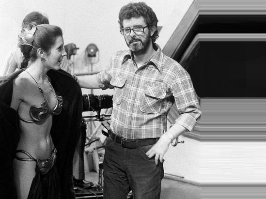 14 de Maio - 1944 – George Lucas, cineasta estadunidense, gravação, Star Wars, com Princesa Léia.