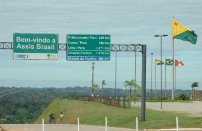 14 de Maio - Assis Brasil (AC) 41 Anos - Placa de boas vindas.