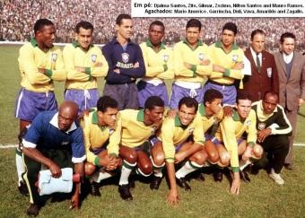 16 de Maio - Nilton Santos - Jogadores em formação na Copa de 1962.