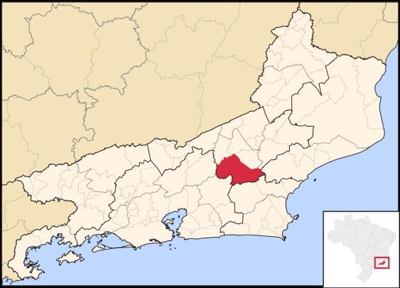 16 de Maio - Nova Friburgo (RJ) – Localização de Nova Friburgo no Rio de Janeiro.