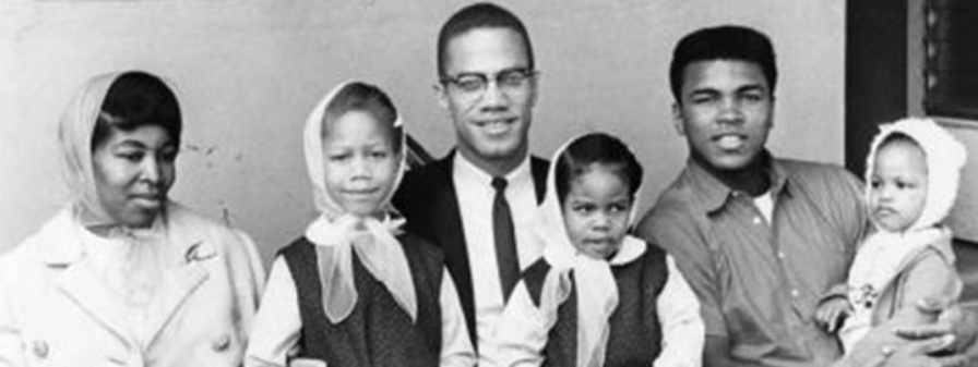 19 de Maio - Malcolm X com esposa, filhos e Muhammad Ali.