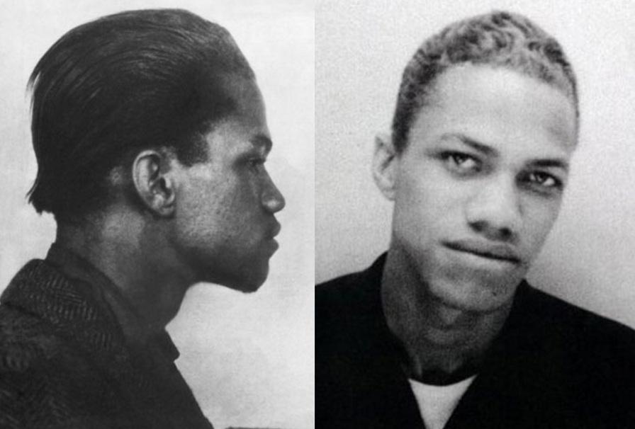 19 de Maio - Malcolm X, jovem, fotomontagem com perfil.