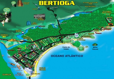 19 de Maio - Mapa ilustrado de Bertioga - SP.