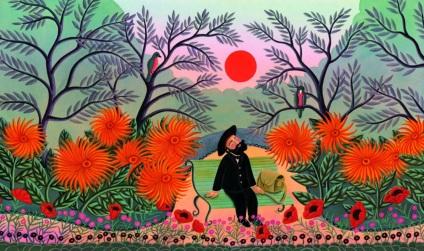 21 de Maio - A selva e o homem - 1844 - Henri Rousseau, pintor francês (m. 1910).