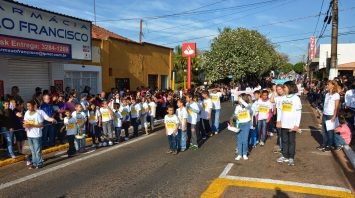 22 de Maio - Desfile escolar — Pederneiras (SP).