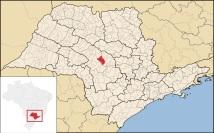 22 de Maio - Localização de Pederneiras em São Paulo.