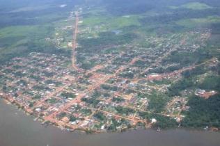 23 de Maio - Foto aérea da cidade - Oiapoque (AP) 72 Anos.