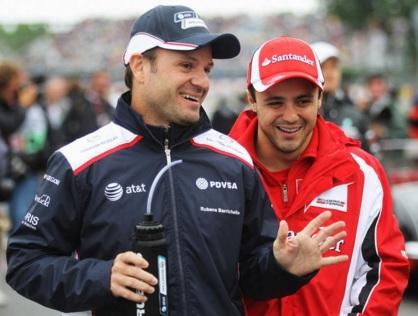 23 de Maio - Rubens Barrichello com Felipe Massa.
