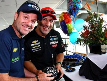 23 de Maio - Rubens Barrichello com Tony Kanaan.