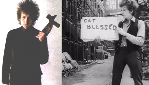24 de Maio - 1941 – Bob Dylan, músico e compositor norte-americano, get blessed, seja abençoado, com uma cruz, cross, christ, jesus.