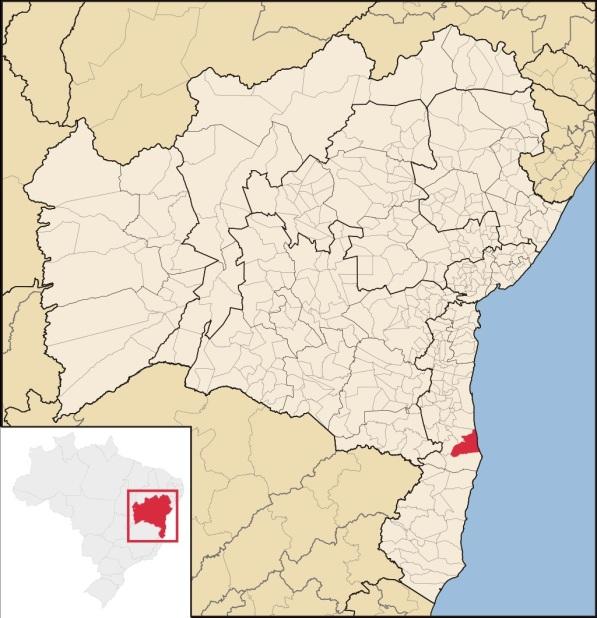 25 de Maio - Localização de Canavieiras na Bahia.